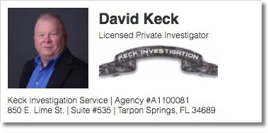 Contact David Keck | Licensed Private Investigator | Keck Investigation Service, LLC